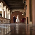 The Bride and her Maid of Honour. Hotel Palacio de Santa Paula, weddings, Granada, Spain.