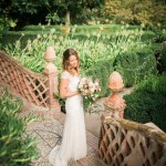 The Bride in the beautiful gardens