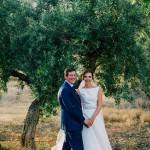 The Beautiful Couple at the Cortijo gardens. Weddings, Granada, Cortijo del Marqués, Spain.