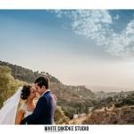 The bride & groom at La Chumbera