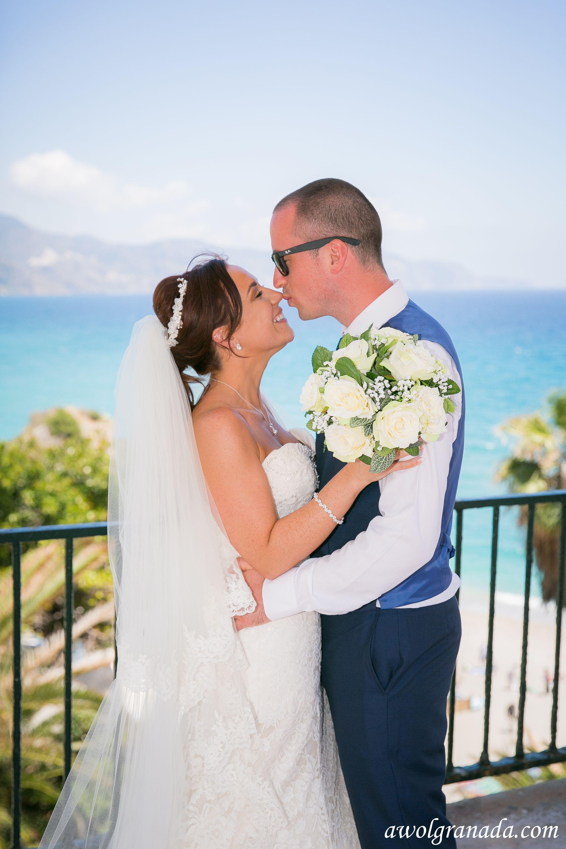 Bride and Groom at Nerja