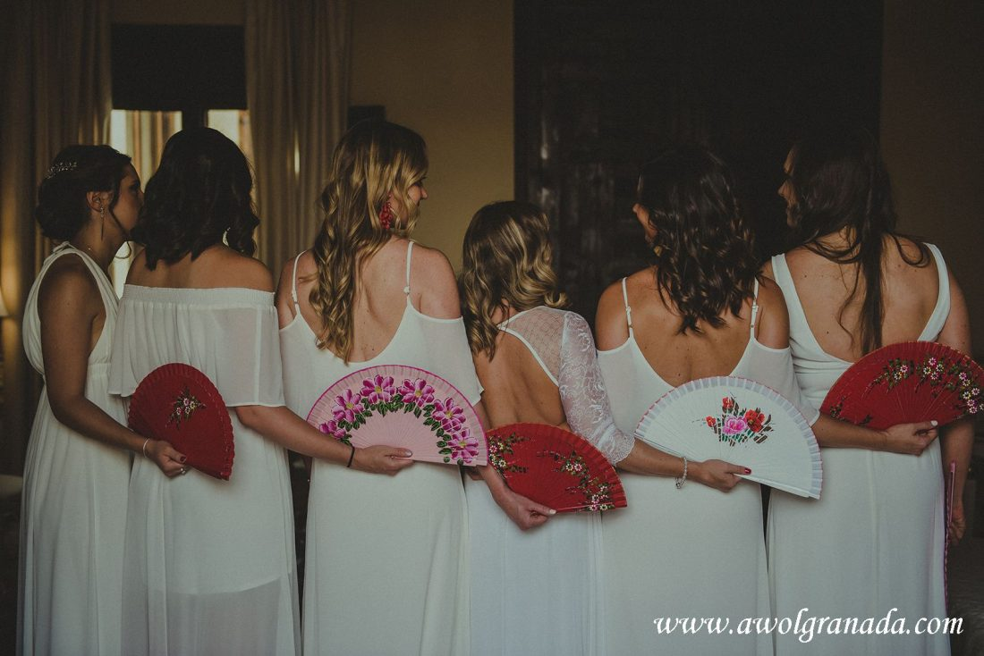 AWOL Granada Wedding Planner Spain Bride, Bridesmaids and Fans