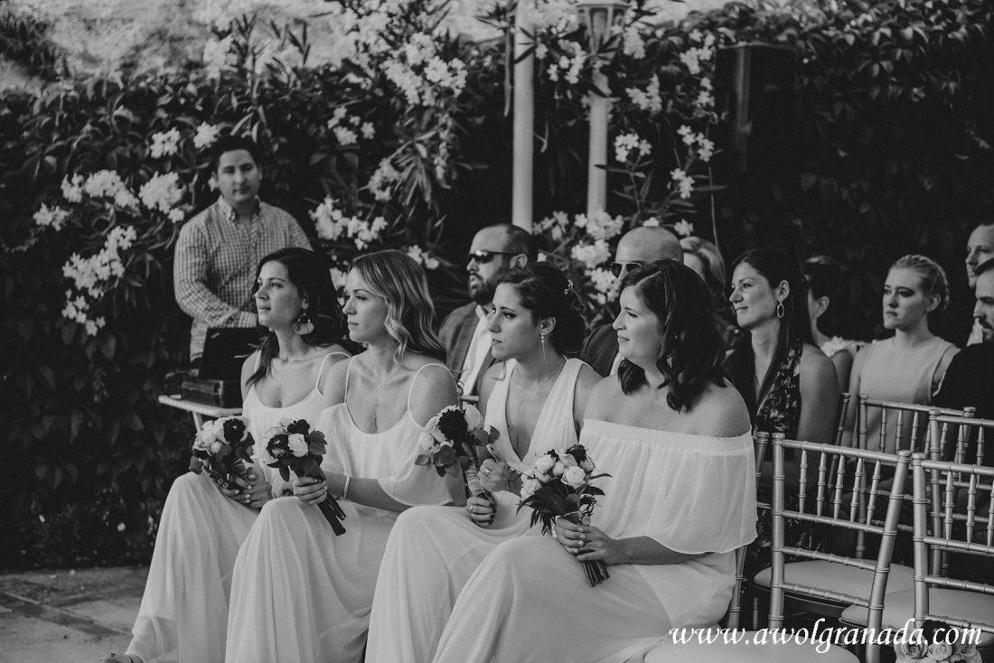 AWOL Granada Wedding Planner Spain Bridesmaids at the Ceremony