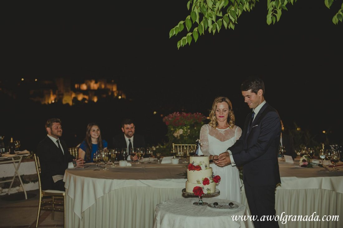 AWOL Granada Wedding Planner Spain Cutting of the Cake