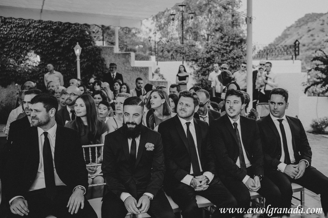 AWOL Granada Wedding Planner Spain Groomsmen at the ceremony