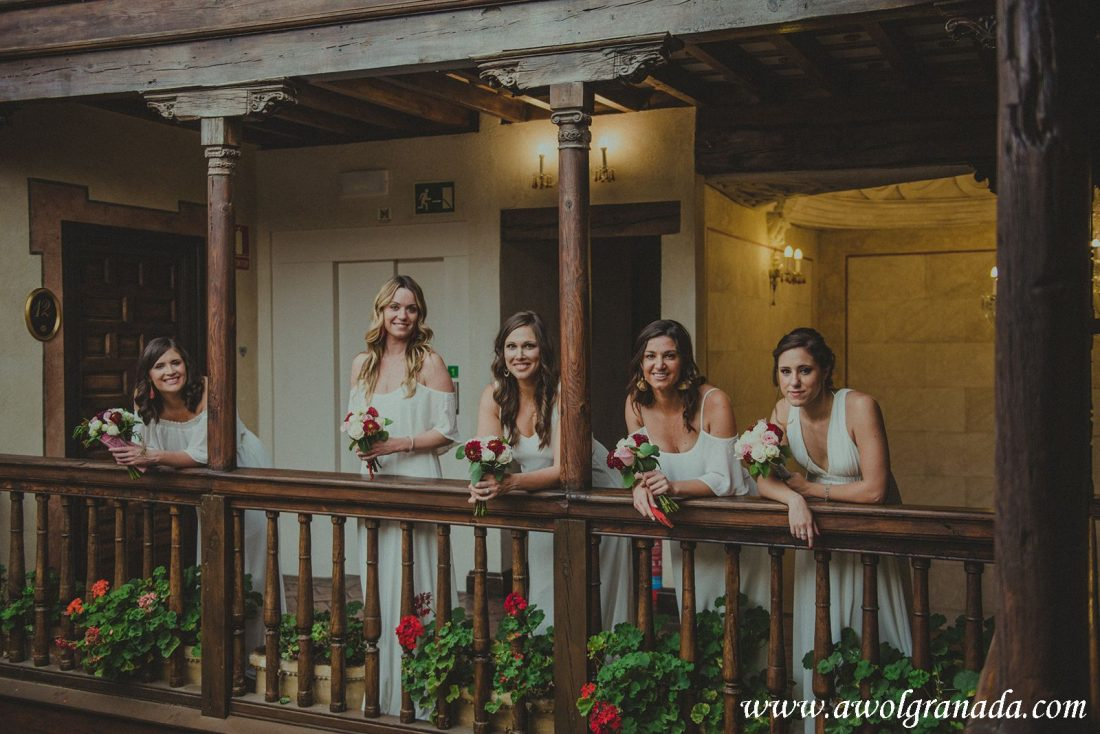 AWOL Granada Wedding Planner Spain The Bridesmaids at Hotel Casa 1800