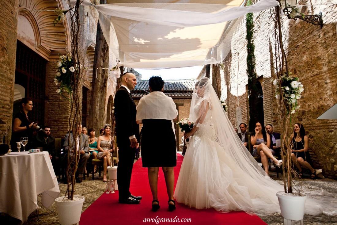 Wedding Ceremony in the Parador Granada, Spain