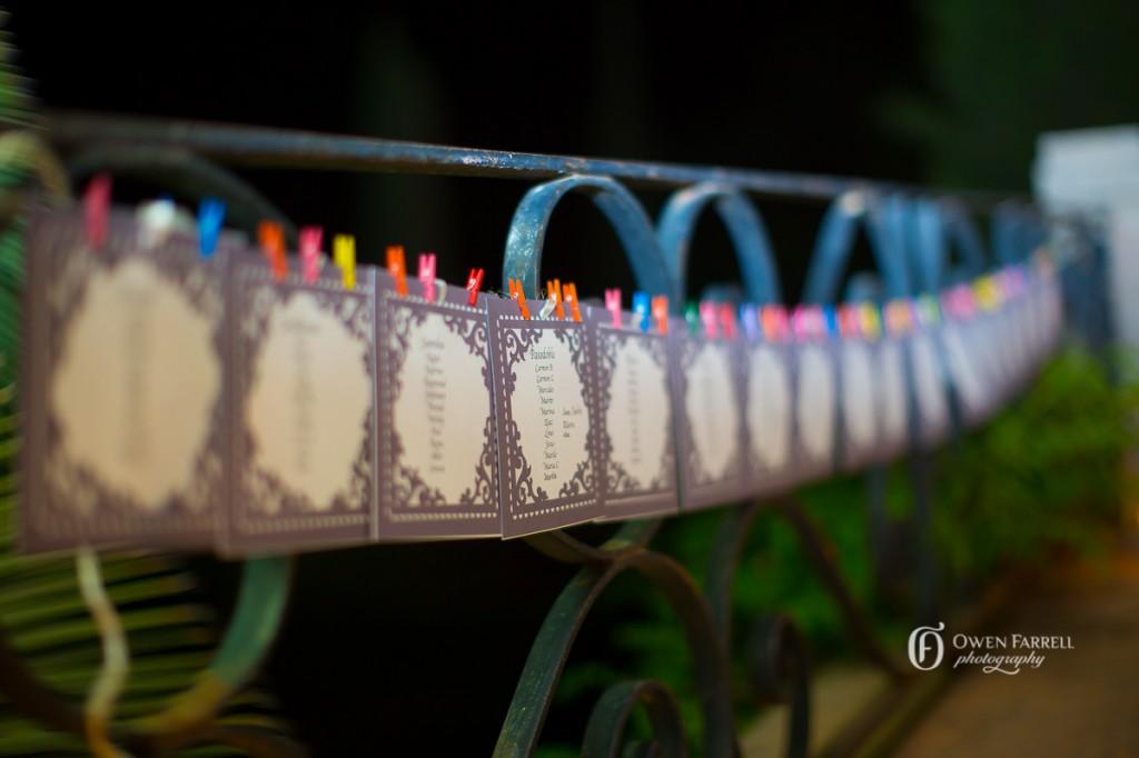La decoración de la boda