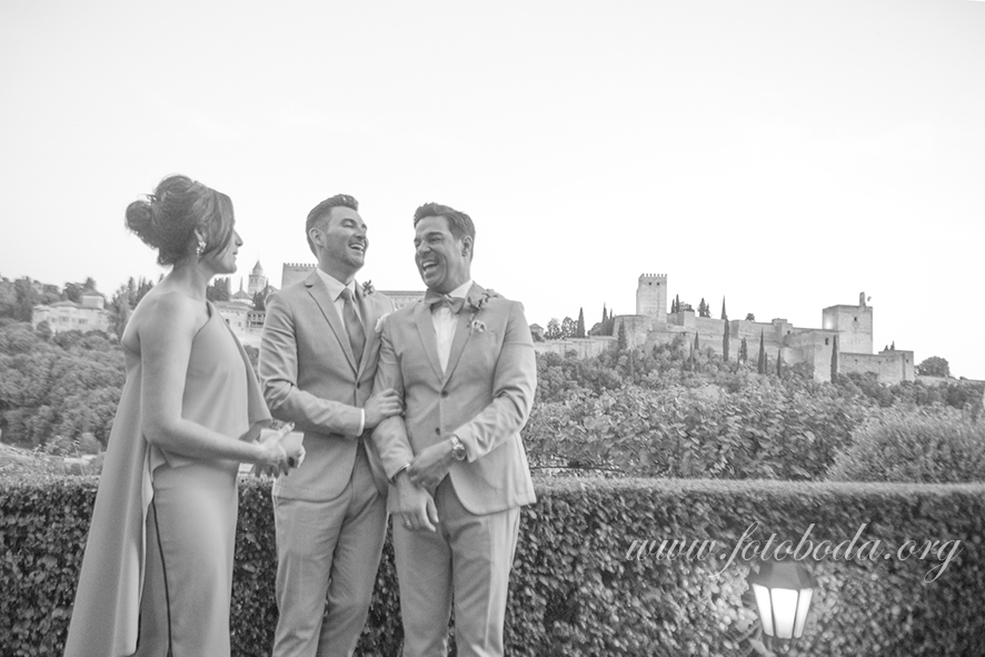 Ceremony with Alhambra Views