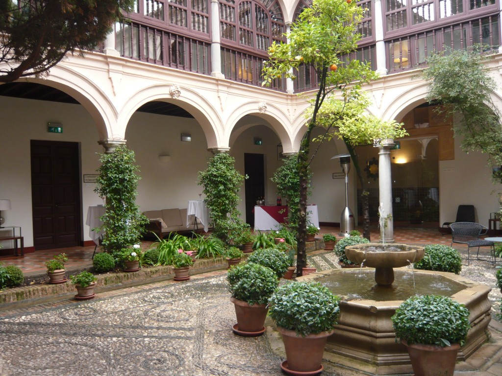 Andalusian Patio Wedding Parador, Granada, Spain