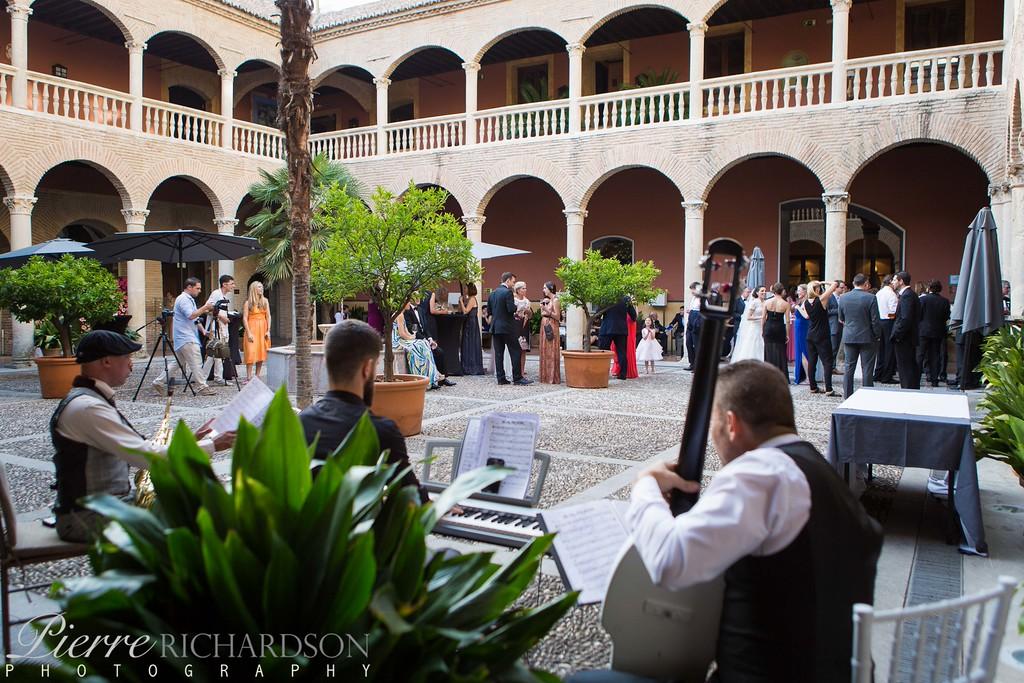 Wedding Cocktail at The Hotel Palacio de Santa Paula, Granada, Spain