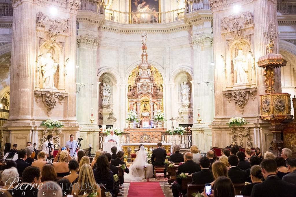 Wedding Ceremony At The Iglesia Sagrario, Granada, Spain