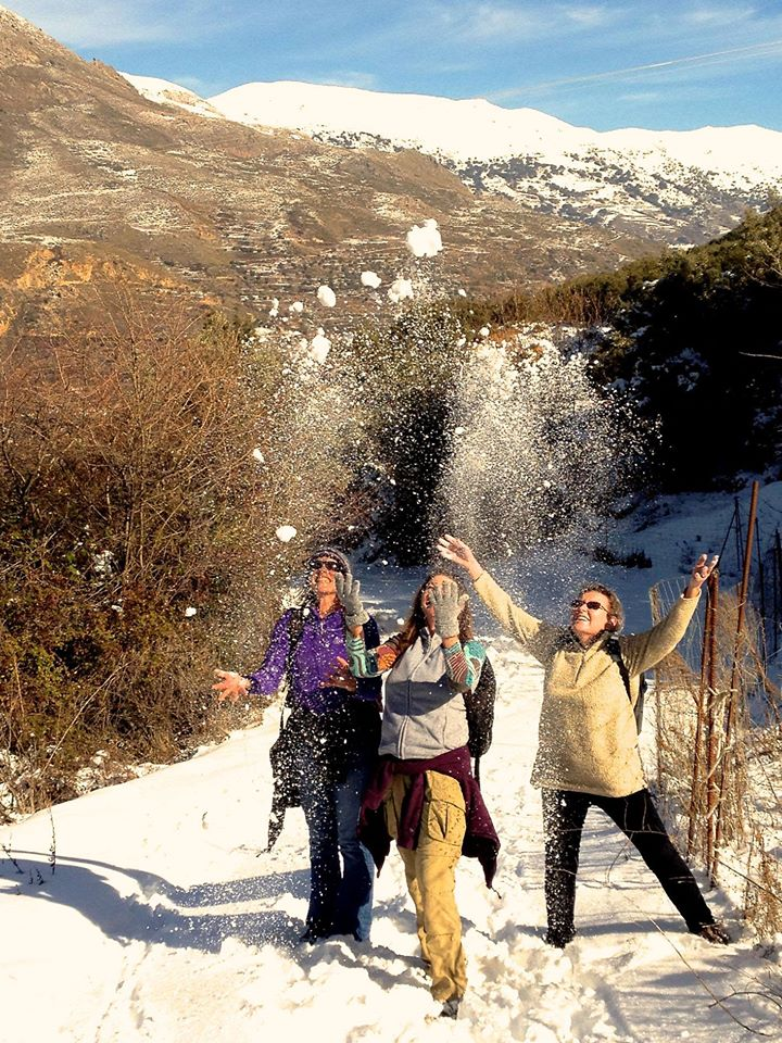Hiking In The Snow in Guejar Sierra
