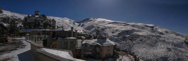 Pradallano Ski Resort in the Sierra Nevada, Granada, Spain