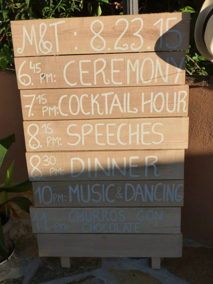 The Wedding Timetable