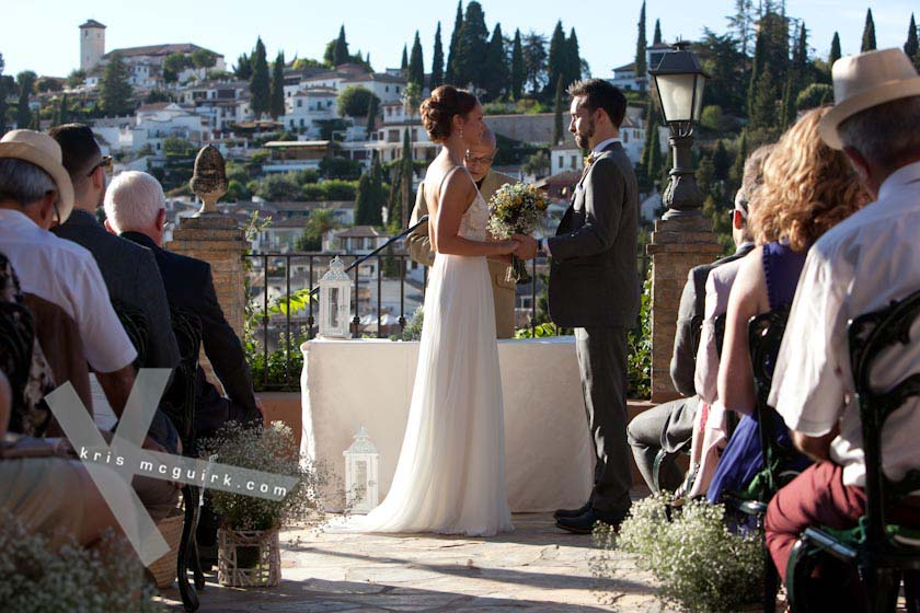 Wedding Ceremony Overlooking Albayzin