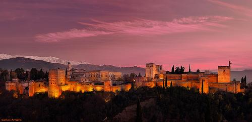 Night View Of Alhambra, Granada, Spain