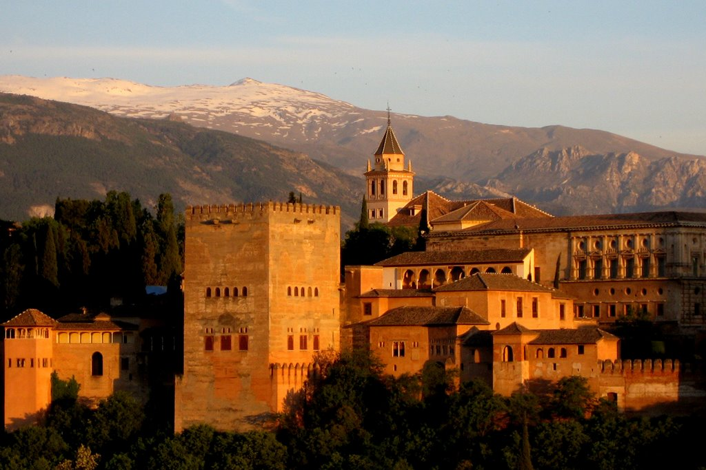 Alhambra And Sierra Nevada View