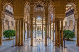 Alhambra Galleries, Granada, Spain