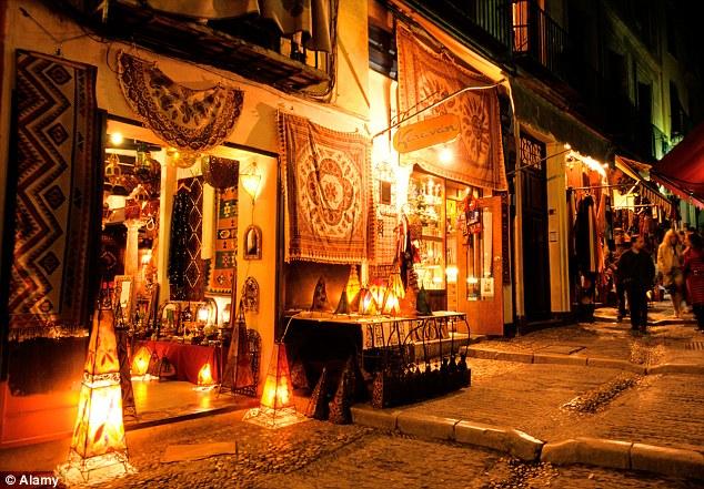 Morroccan Market At Night