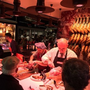 Jamon at San Agustin Market, Granada, Spain