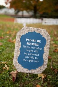 Funny Wedding Ceremony Sign