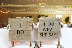 Bride and Groom Wedding Chairs Sign