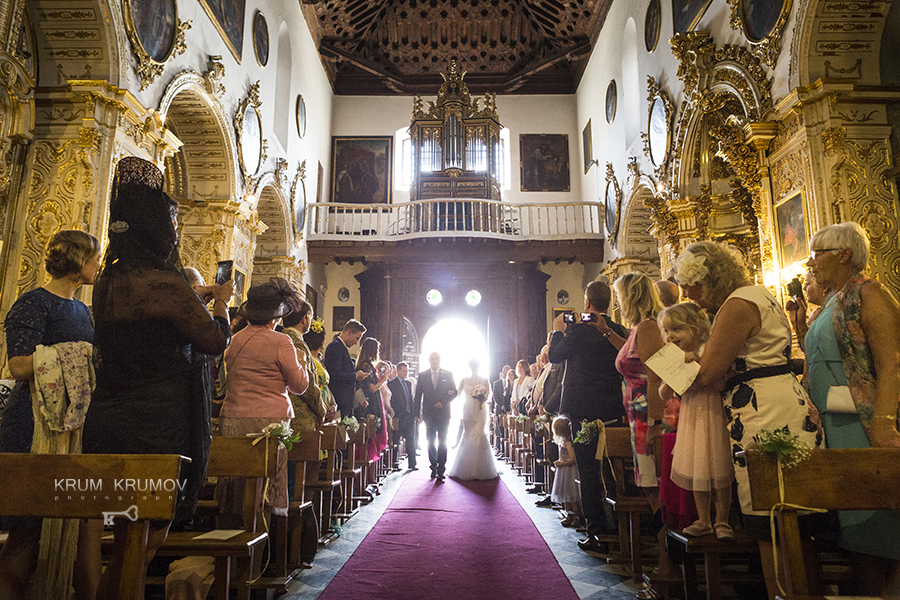 The Ceremony at Santa Ana Church. Weddings Granada, Spain
