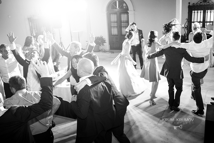 The first dance of the wedding.