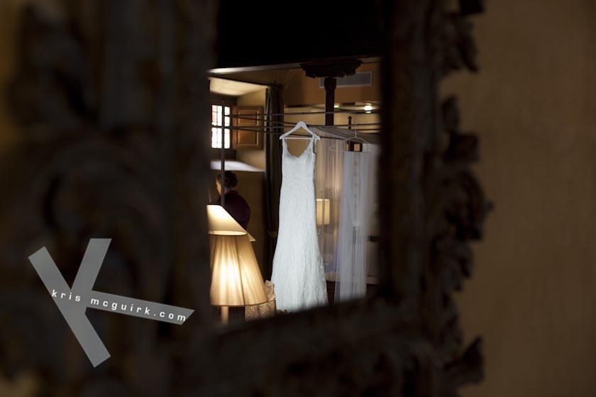 Beautiful Wedding Dress. Hotel Palacio de Santa Paula, weddings, Granada, Spain.
