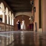 The Bride and her Maid of Honour. Hotel Palacio de Santa Paula, weddings, Granada, Spain.