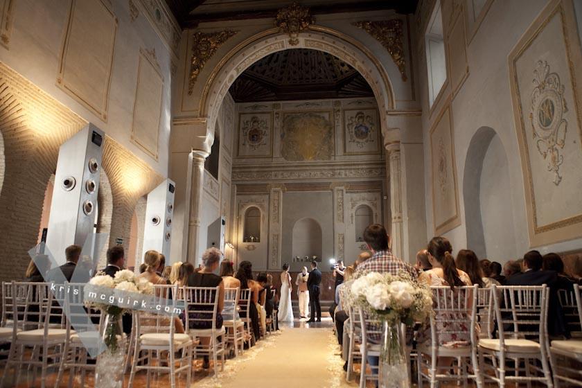 The Chapel. Hotel Palacio de Santa Paula, weddings, Granada, Spain.