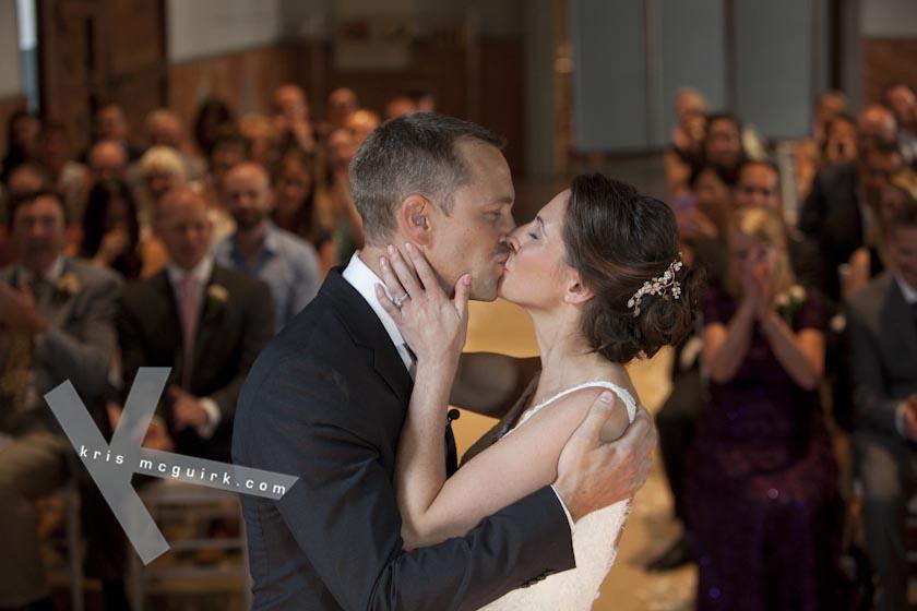 The Kiss after the Ceremony. Hotel Palacio de Santa Paula, Weddings, Granada, Spain.