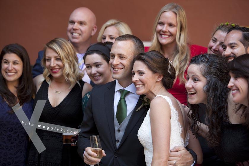 The Bride and the Groom with friends. Hotel Palacio de Santa Paula, Weddings, Granada, Spain.