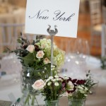 Tables Name and Flowers. Hotel Palacio de Santa Paula, Weddings, Granada, Spain.