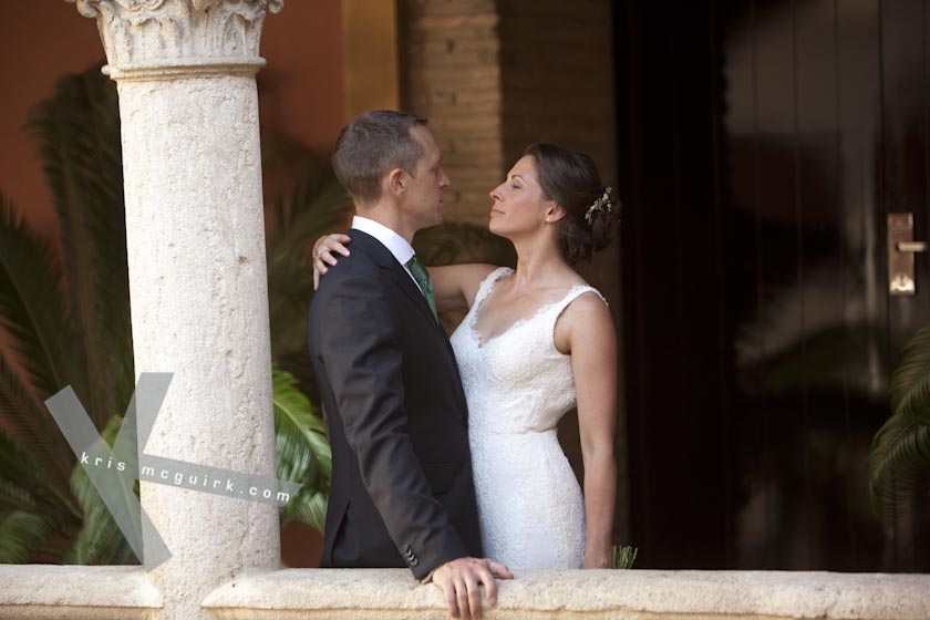 The Bride and the Groom. Hotel Palacio de Santa Paula, Weddings, Granada, Spain.