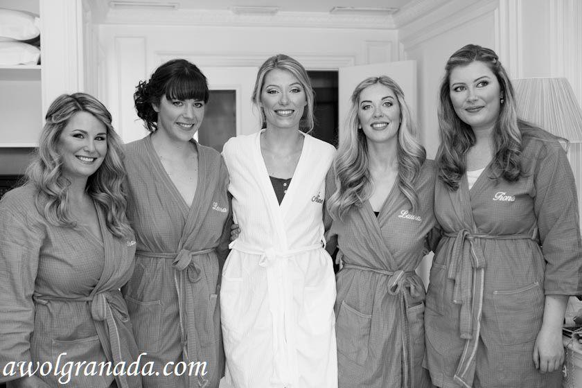 Bride & Bridesmaids at the hotel