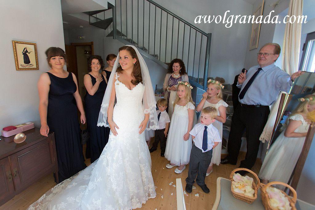 Bride getting ready in the Suite at the Cortijo de la Argumosa