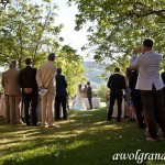 Ceremony with mountain views