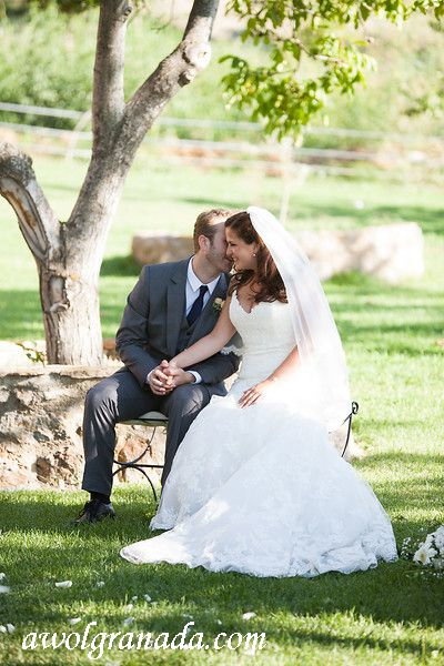 Private moment during the ceremony
