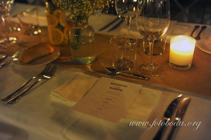 Table Setting at Las Tomasas