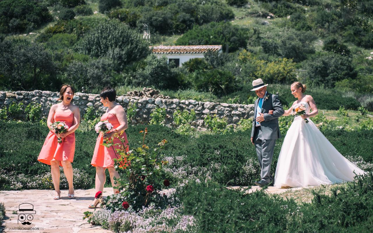 The Bridal Entrance through the gardens