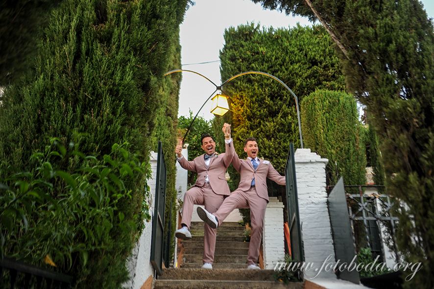 The Grooms grand entrance