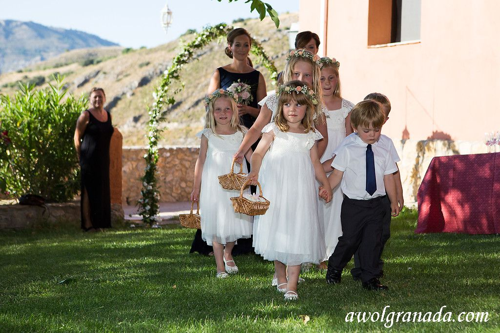 The flowergirls and pageboys