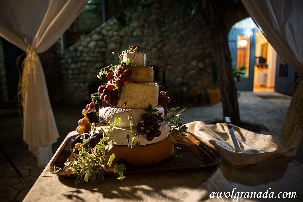 Wheels of Cheese Wedding Cake