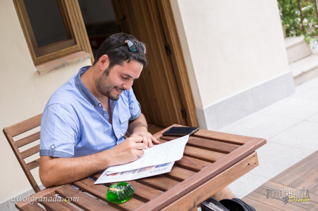 The Groom writing his vows
