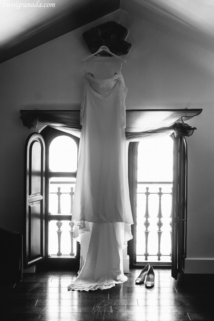 The Wedding Dress at the hotel window