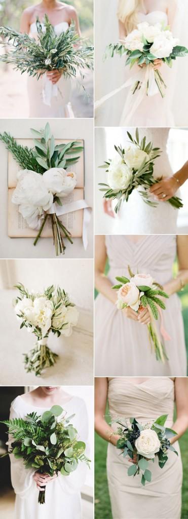 easy-DIY-simpke-botanical-greenery-wedding-bouquets-for-minimalism-weddings