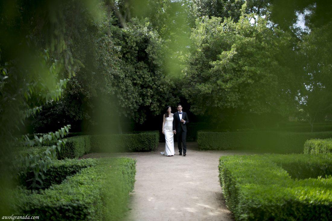 Alhambra Gardens Wedding Photo's AWOL Granada Wedding Planner Granada Spain