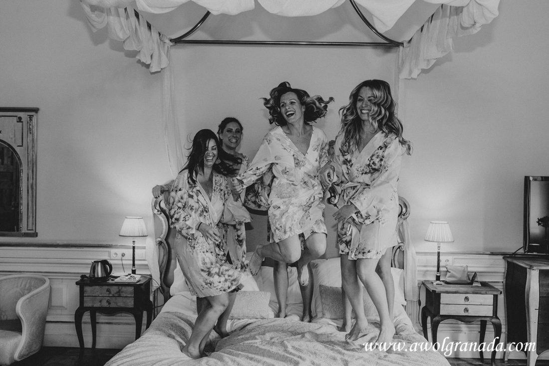 AWOL Granada Wedding Planner Spain Bridal Party Having Fun!